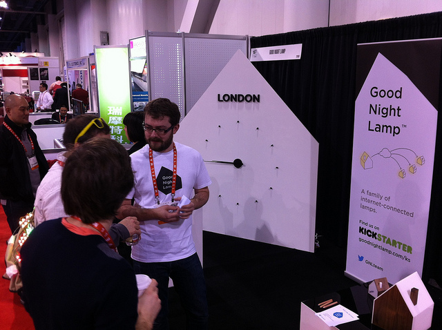 The Good Night Lamp at CES 2013 (by todbot at Flickr)