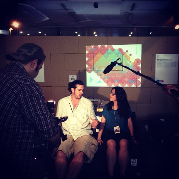 Getting interviewed by TVE during the Sonar+D