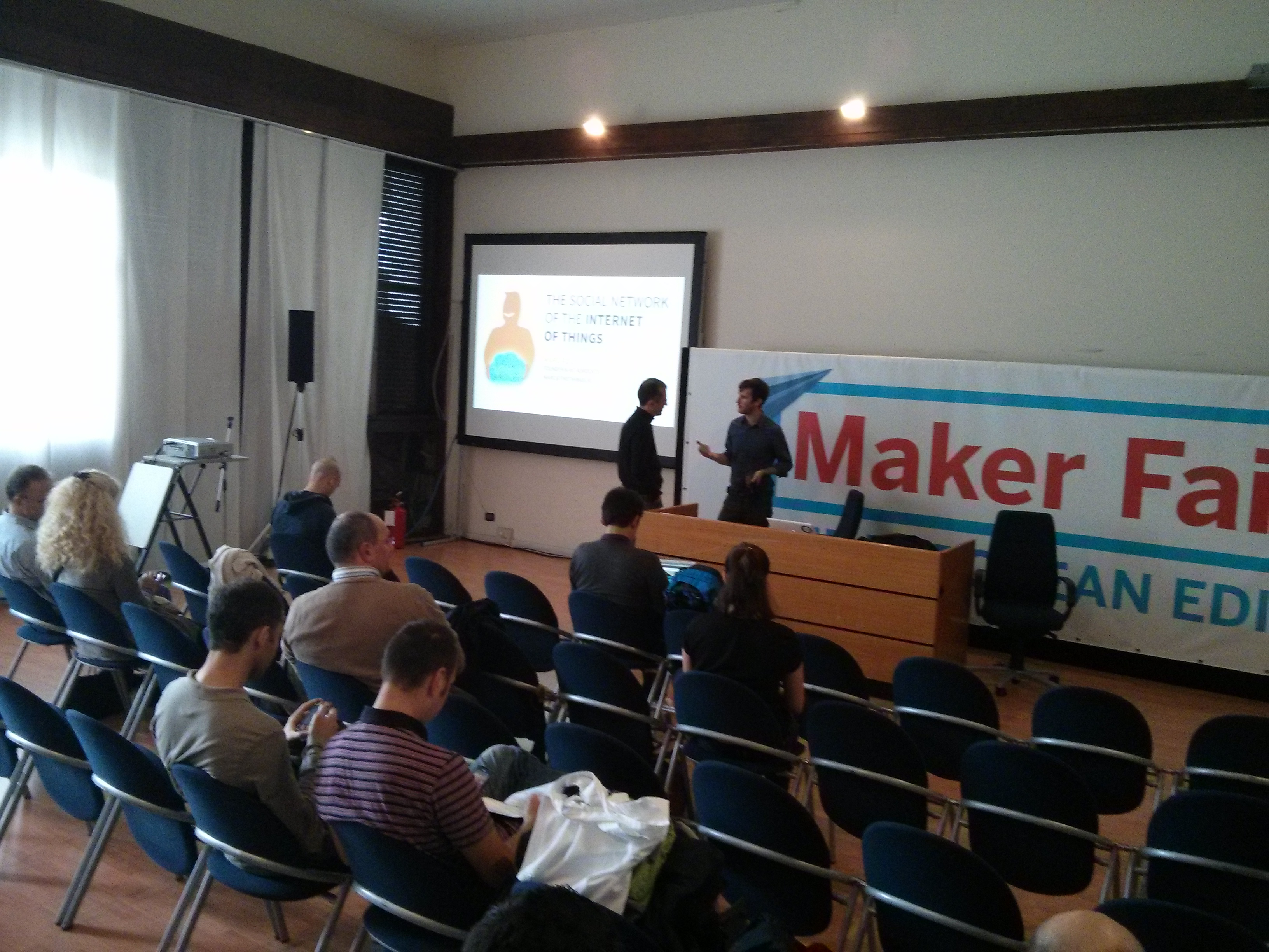 Before the presentation at the Maker Faire