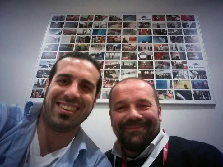 Marc Pous and Massimo Banzi at the MWC