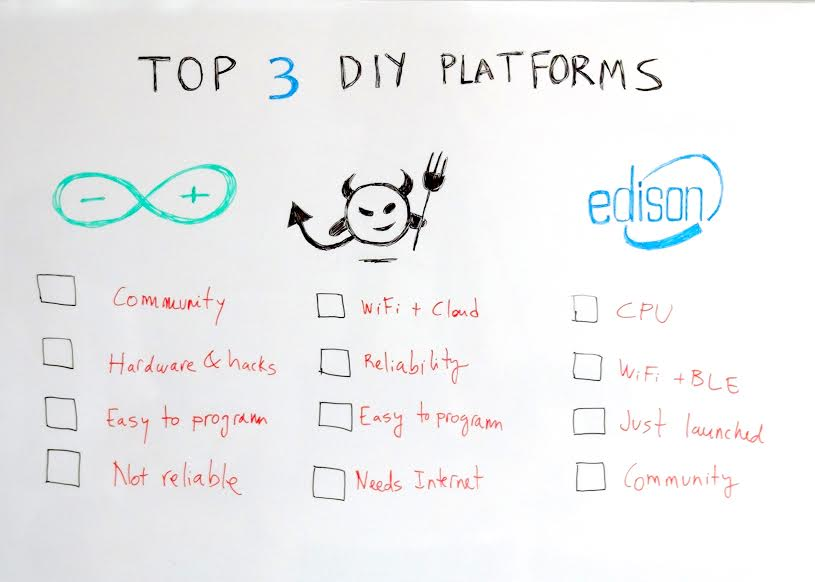 Top 3 DIY platforms - #iotfriday